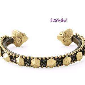 stella & dot artemis stud lionhead cuff bracelet